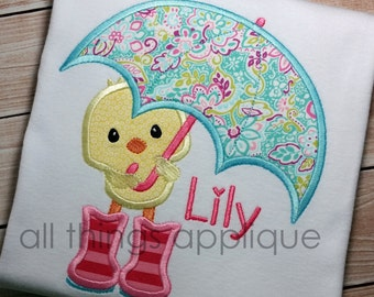 Bird with Umbrella (#627) - 4 Sizes Included - INSTANT DOWNLOAD