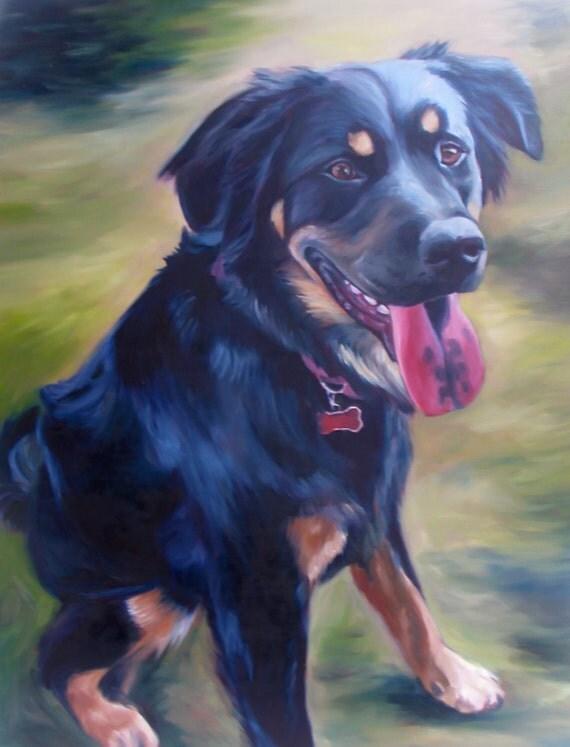 Custom Pet Portrait - Portrait Oil Painting - Great Gift- 9x12
