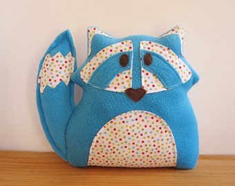 Blue Raccoon Stuffed Animal Decor