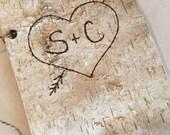 """6"""" x 9"""" Birch Bark Wedding Guest Book - Birch Bark Advise Book - Rustic Wedding Wishes Book - Woodland Wedding - Barn Wedding"""