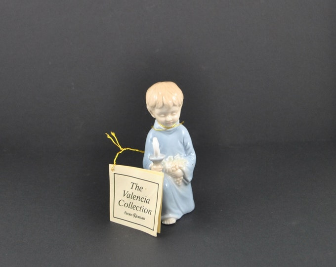 Vintage First Holy Communion Figurine, Roman, Valencia Collection, 1984, Porcelain, Hand Painted, Boy's First Communion, Catholic Communion