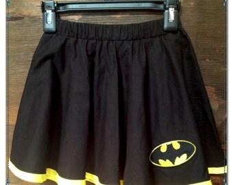 Batman - Girls Circle Skirt - Childs Circle Skirt - Kids Circle Skirt - Size 3T 5T