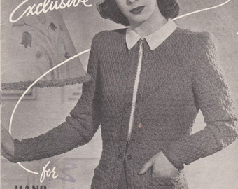 Lincoln Fashion Exclusive Designs  Knitting Pattern No 673 (Vintage 1940s) Original Pattern
