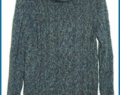 Ladies Sweater Cowl Neck Cable Knit by Old Navy - Blue - Sz XL