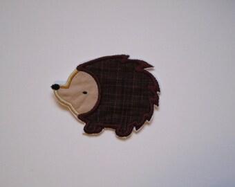 hedgehog patch/ DIY iron on hedgehog patch/ porcupine patch