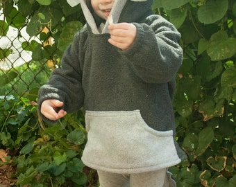 BABY & TODDLER Wolf Hoodie, Costume, Vest, Jacket, Hand-made, Cosplay