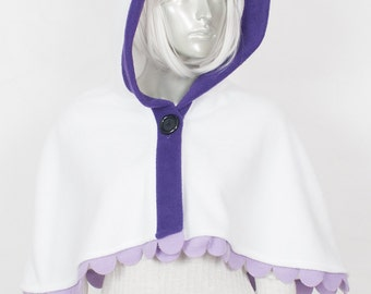 Purple Panda Capelet - Hood and Tail, Clothing, Winter Wear, Accessory