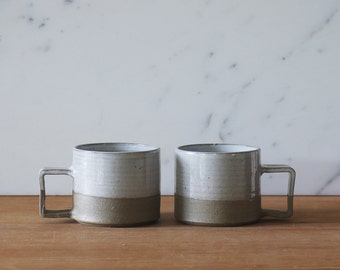 modern mug with square handle by vitrifiedstudio