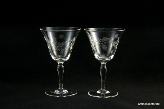 Pioneer Glass Port Wine Glasses or Sherry Glasses in the