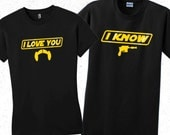 Star Wars Han Solo Mens t shirt. I know valentines shirt