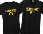 Star Wars Han Solo Mens t shirt. I know valentines shirt