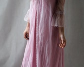 Sheer Lavender Robe with Bell Sleeves