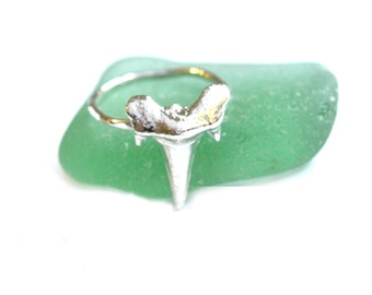 JAWS Sterling Silver Shark Tooth Ring- Made to Order
