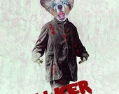 Walker - Walking Dead Print - Anthropomorphic - Altered Photo - Photo Collage - Walking Dead  Art - Whimsical - Unusual Gift Idea