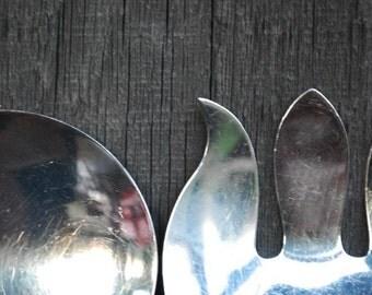 vintage salad servers - silverplate - tableware - fine dining