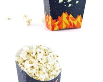 Space Party - Printable Party Food Kit - Food Box - Popcorn Box - Snack Cones