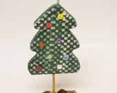Christmas Tree, Country Folk Art Painted Pine Tree