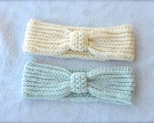 Crochet Womens Bow Headband -additional colors available