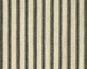 Black Ticking Throw Cushion Cover - 22x22, 24x24 or Euro 26x26 inch Decorative Pillow Covers - Black Ivory Ticking Stripe