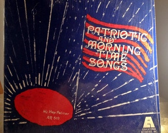 Vintage Vinyl Record Patriotic and Morning Time Songs LP Album