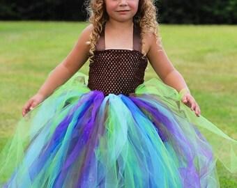 Peacock  - Flower Girl  Dress size   12-18m, 18-24m, 2t, 3t, 4t, 5t, 6,7-8