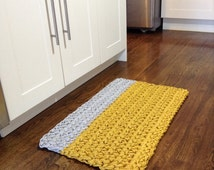 yellow and grey crochet rope rug kitchen mat door mat floor mat