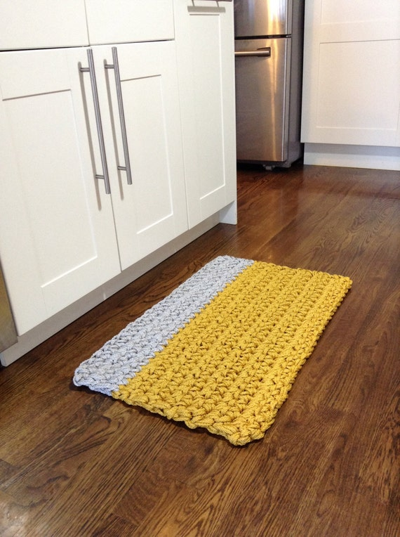 Yellow and gray kitchen rugs yellow and gray bath rug home decorating ideas kitchen rug - Yellow kitchen floor mats ...