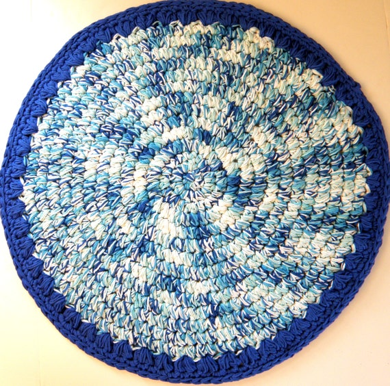 Items Similar To Rag Rug Designed Bath Mat, Very Thick And