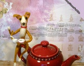 Greyhound, Italian Greyhound Teapot, Needle Felted Greyhound, Handmade Greyhound, Galgo, Whippet