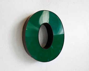 "Vintage Channel Letter ""O"" in Forest Green - Large"