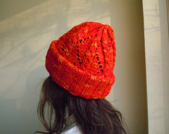 Changeable length beanie - Passion orange