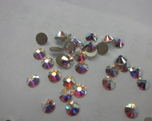 SS16, Swarovski 2058, Crystal Clear AB Rhinestones, Not Hot Fix - 20 Crystals or, choose a Larger Pkg from the 'Select an Option' menu