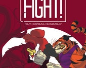 South Carolina vs. Clemson Poster V.7, FIGHT!