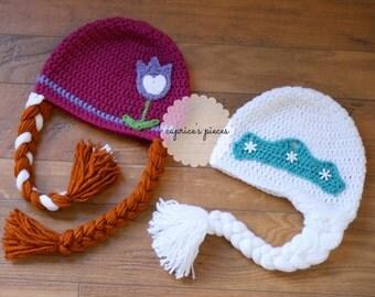 Queen Elsa, Queen Elsa Hat, Inspired Queen Elsa Hat, Frozen Hat, Olaf Hat, Elsa Hat, Elsa Wig