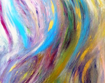 Shapes of Mother Original Abstract Painting FREE SHIPPING!