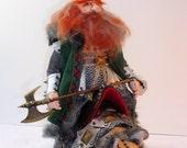Dwarf doll, OOAK, fantasy, cloth art doll