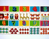 Vintage 1960s Educational Number Puzzle Game