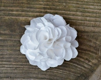 bridal hair flower white flower hair clip wedding hair piece shabby chic bridal accessories fabric flower hair accessories bridesmaid hair