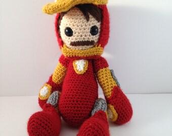 Avengers Iron Man crochet amigurumi doll