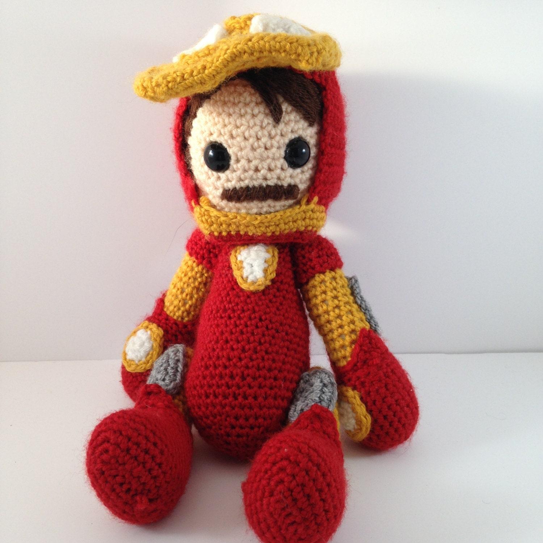 Crochet Amigurumi Doll Clothes : Avengers Iron Man crochet amigurumi doll
