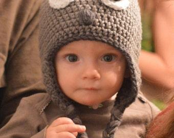 Squirrel Hat, Crochet Squirrel Hat, Squirrer Hat, Squirrel Costume, Halloween Hat, Toddler Hat, Infant Hat, Adult Hat, Halloween Costume