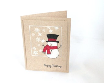 Kraft Snowman Christmas Card