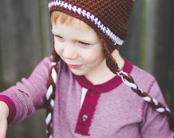 Crochet  Football Hat, all sizes, sports hat