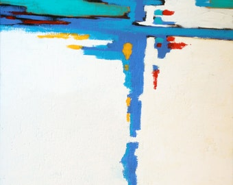 Mast in the Harbor. Acrylic on Canvas, 40 x 30.