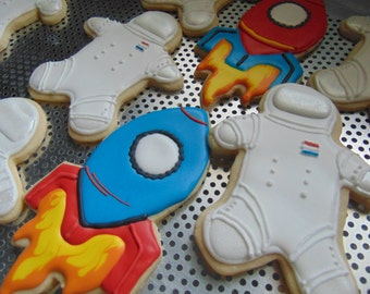 Astronauts and Rocket Cookies