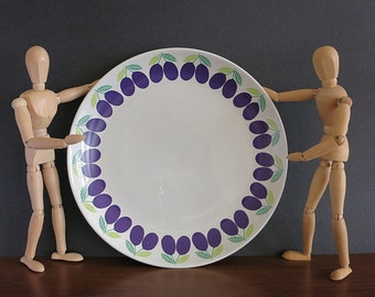 Vintage Arabia Finland Pomona Plum Chop Plate or Round Platter - Raija Uosikkinen - Ulla Procope - Arabia Pomona Platter Scandinavian Design