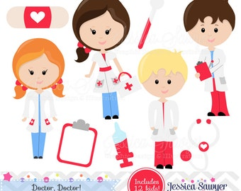 INSTANT DOWNLOAD - Doctor Clipart or Nurse Clipart for Personal and Commercial Use