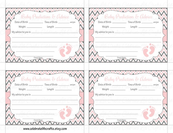 baby shower prediction and advice cards mommy printable baby, Baby shower invitation