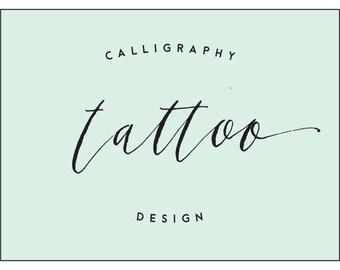 contemporary calligraphy tattoo design