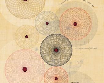 Jane Eyre Quote / I Am No Bird - Art Print